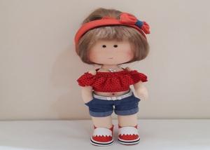 برش قطعات لباس عروسک
